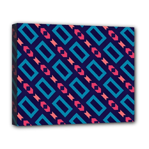 Rectangles And Other Shapes Pattern Deluxe Canvas 20  X 16  (stretched) by LalyLauraFLM