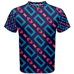 Rectangles And Other Shapes Pattern Men s Cotton Tee by LalyLauraFLM