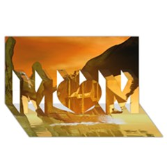Awesome Sunset Over The Ocean With Ship Mom 3d Greeting Card (8x4)
