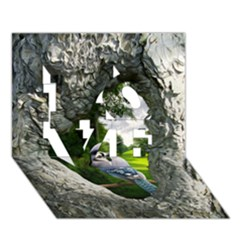 Bird In The Tree 2 Love 3d Greeting Card (7x5)