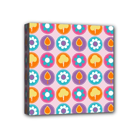 Chic Floral Pattern Mini Canvas 4  X 4  by creativemom