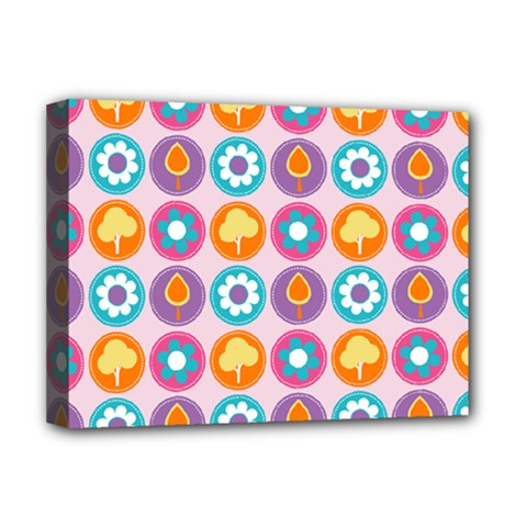 Chic Floral Pattern Deluxe Canvas 16  X 12   by creativemom