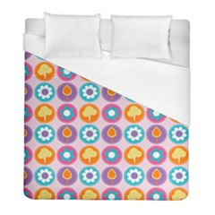 Chic Floral Pattern Duvet Cover Single Side (Twin Size) by creativemom
