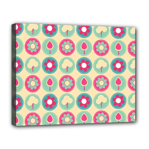 Chic Floral Pattern Canvas 14  X 11  by creativemom