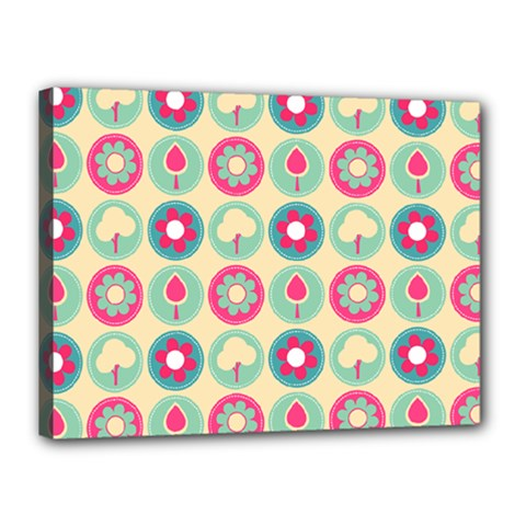Chic Floral Pattern Canvas 16  X 12  by creativemom