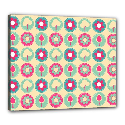 Chic Floral Pattern Canvas 24  X 20  by creativemom