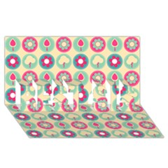 Chic Floral Pattern Best Sis 3d Greeting Card (8x4)