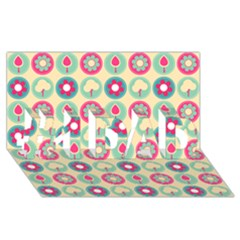 Chic Floral Pattern #1 Dad 3d Greeting Card (8x4)