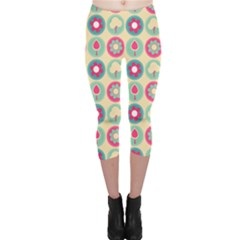 Chic Floral Pattern Capri Leggings by creativemom