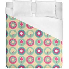 Chic Floral Pattern Duvet Cover Single Side (Double Size) by creativemom
