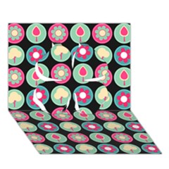 Chic Floral Pattern Clover 3d Greeting Card (7x5)