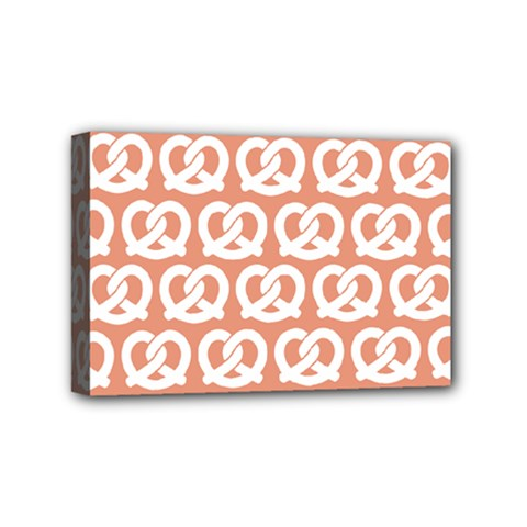 Salmon Pretzel Illustrations Pattern Mini Canvas 6  X 4  by creativemom