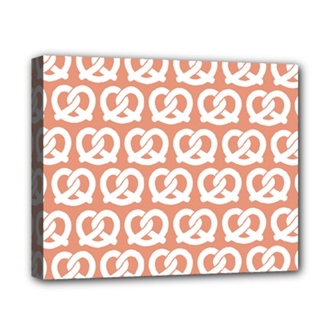 Salmon Pretzel Illustrations Pattern Canvas 10  X 8  by creativemom