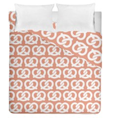 Salmon Pretzel Illustrations Pattern Duvet Cover (full/queen Size) by creativemom