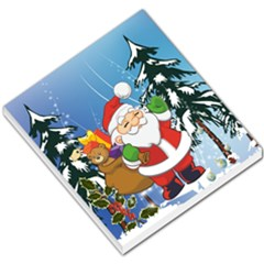 Funny Santa Claus In The Forrest Small Memo Pads