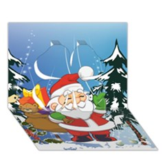 Funny Santa Claus In The Forrest Clover 3d Greeting Card (7x5)