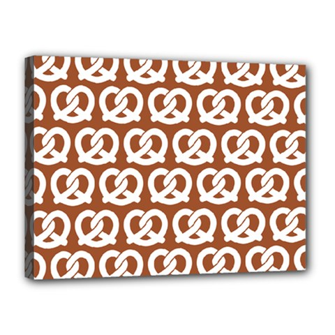 Brown Pretzel Illustrations Pattern Canvas 16  X 12  by creativemom