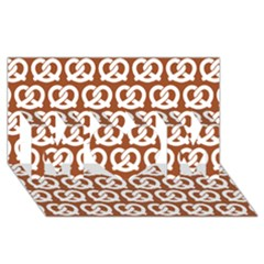 Brown Pretzel Illustrations Pattern Mom 3d Greeting Card (8x4)  by creativemom
