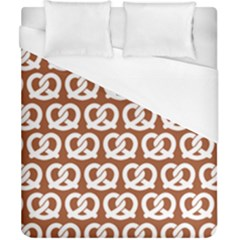 Brown Pretzel Illustrations Pattern Duvet Cover Single Side (double Size) by creativemom