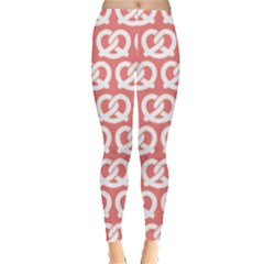 Chic Pretzel Illustrations Pattern Women s Leggings by creativemom