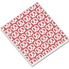 Trendy Pretzel Illustrations Pattern Small Memo Pads
