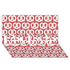 Trendy Pretzel Illustrations Pattern Believe 3d Greeting Card (8x4)