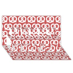Trendy Pretzel Illustrations Pattern Merry Xmas 3d Greeting Card (8x4)