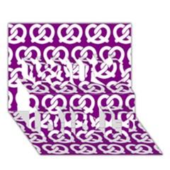 Purple Pretzel Illustrations Pattern You Did It 3d Greeting Card (7x5)