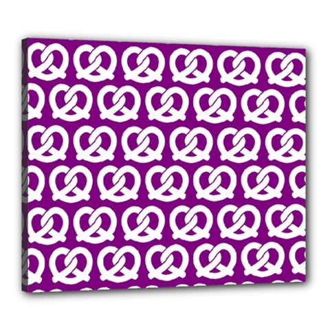 Purple Pretzel Illustrations Pattern Canvas 24  X 20  by creativemom