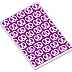 Purple Pretzel Illustrations Pattern Large Memo Pads