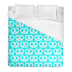 Aqua Pretzel Illustrations Pattern Duvet Cover Single Side (twin Size) by creativemom