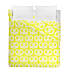 Yellow Pretzel Illustrations Pattern Duvet Cover (twin Size) by creativemom