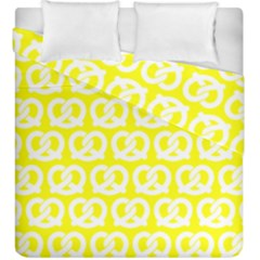 Yellow Pretzel Illustrations Pattern Duvet Cover (king Size) by creativemom