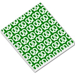 Green Pretzel Illustrations Pattern Small Memo Pads
