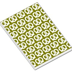 Olive Pretzel Illustrations Pattern Large Memo Pads