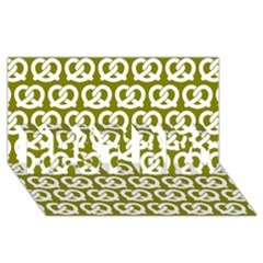Olive Pretzel Illustrations Pattern Best Bro 3d Greeting Card (8x4)  by creativemom