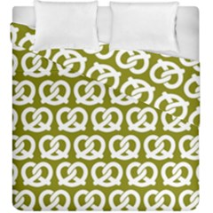 Olive Pretzel Illustrations Pattern Duvet Cover (King Size) by creativemom