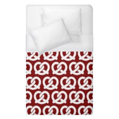 Red Pretzel Illustrations Pattern Duvet Cover Single Side (single Size) by creativemom