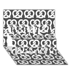 Gray Pretzel Illustrations Pattern You Rock 3d Greeting Card (7x5)