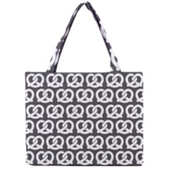 Gray Pretzel Illustrations Pattern Tiny Tote Bags