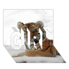 Tiger 2015 0101 Girl 3d Greeting Card (7x5)  by JAMFoto