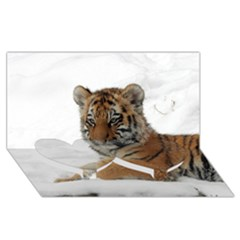 Tiger 2015 0101 Twin Heart Bottom 3d Greeting Card (8x4)