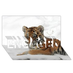 Tiger 2015 0101 Engaged 3d Greeting Card (8x4)