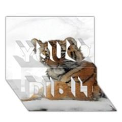 Tiger 2015 0101 You Did It 3d Greeting Card (7x5)