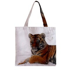 Tiger 2015 0101 Zipper Grocery Tote Bags
