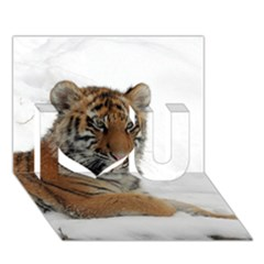 Tiger 2015 0102 I Love You 3D Greeting Card (7x5)