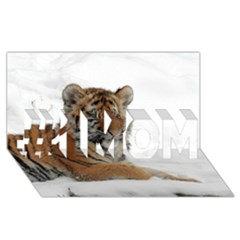 Tiger 2015 0102 #1 Mom 3d Greeting Cards (8x4)