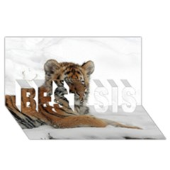 Tiger 2015 0102 Best Sis 3d Greeting Card (8x4)  by JAMFoto