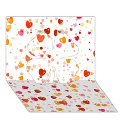 Heart 2014 0604 Clover 3d Greeting Card (7x5)  by JAMFoto