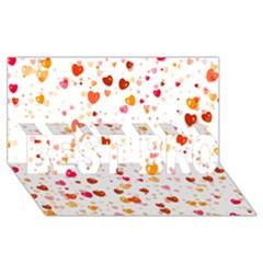 Heart 2014 0604 Best Bro 3d Greeting Card (8x4)